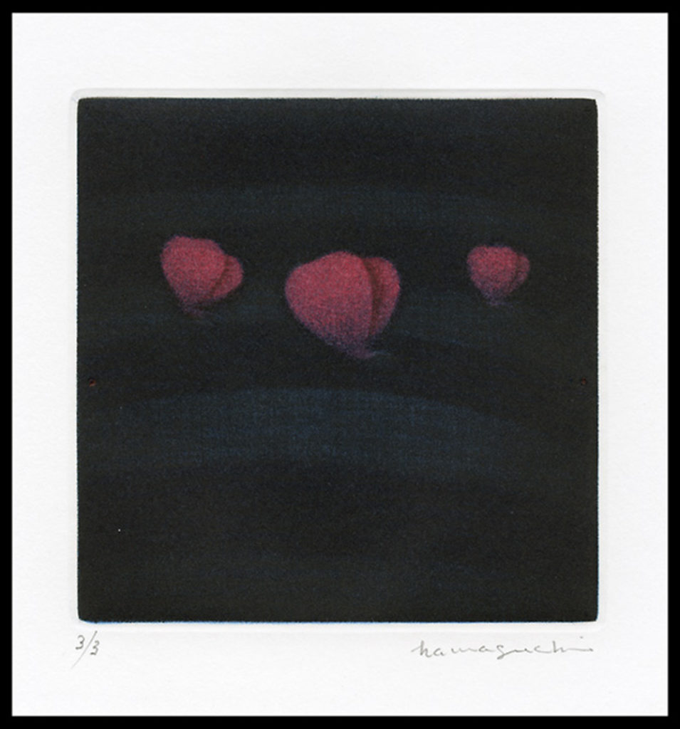 Three Butterflies (Red)