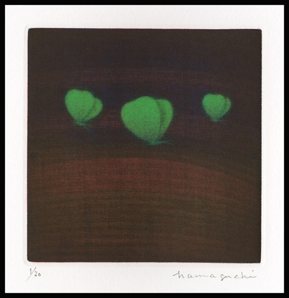 Three Butterflies (Green)