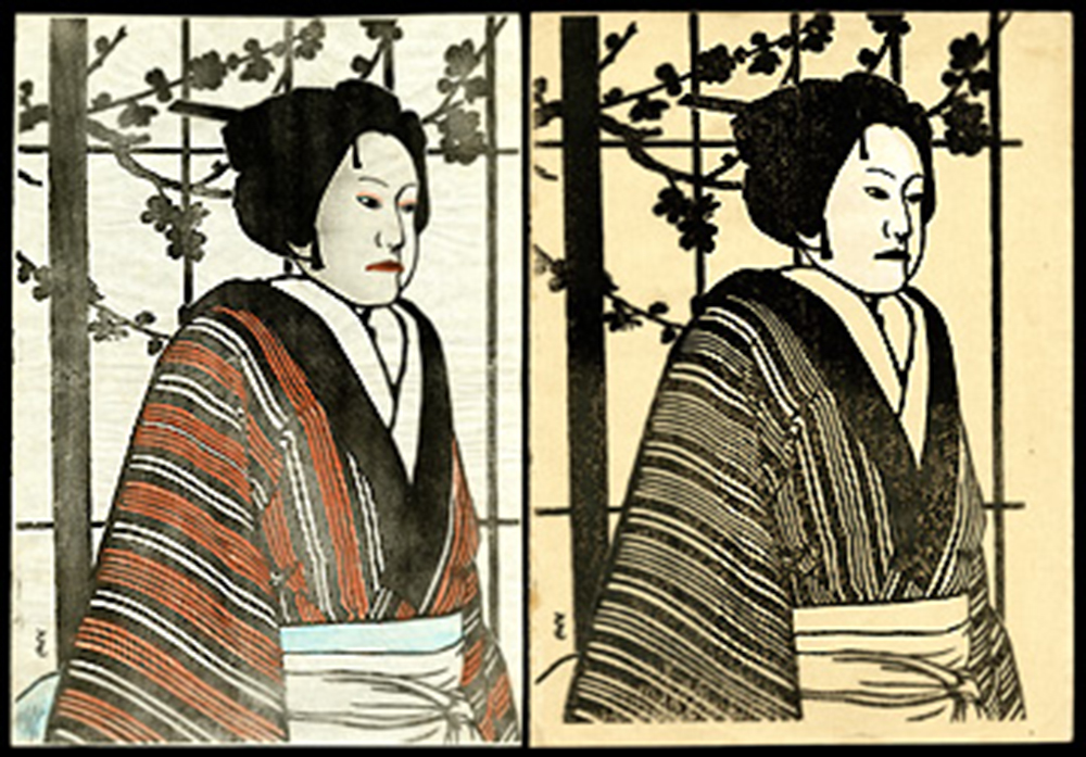 Bunraku Print and Key Block Outline Set