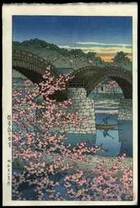Evening-at-Kintai-Bridge-in-Spring-WPKH21