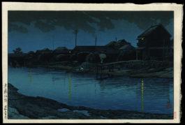 Evening of Omori Seaside