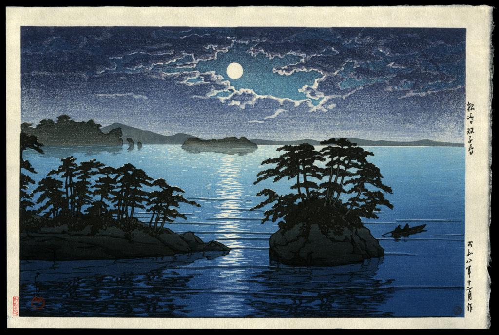 Moonrise at Futago, Matsushima