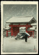 Shiba Great Gate in Snow