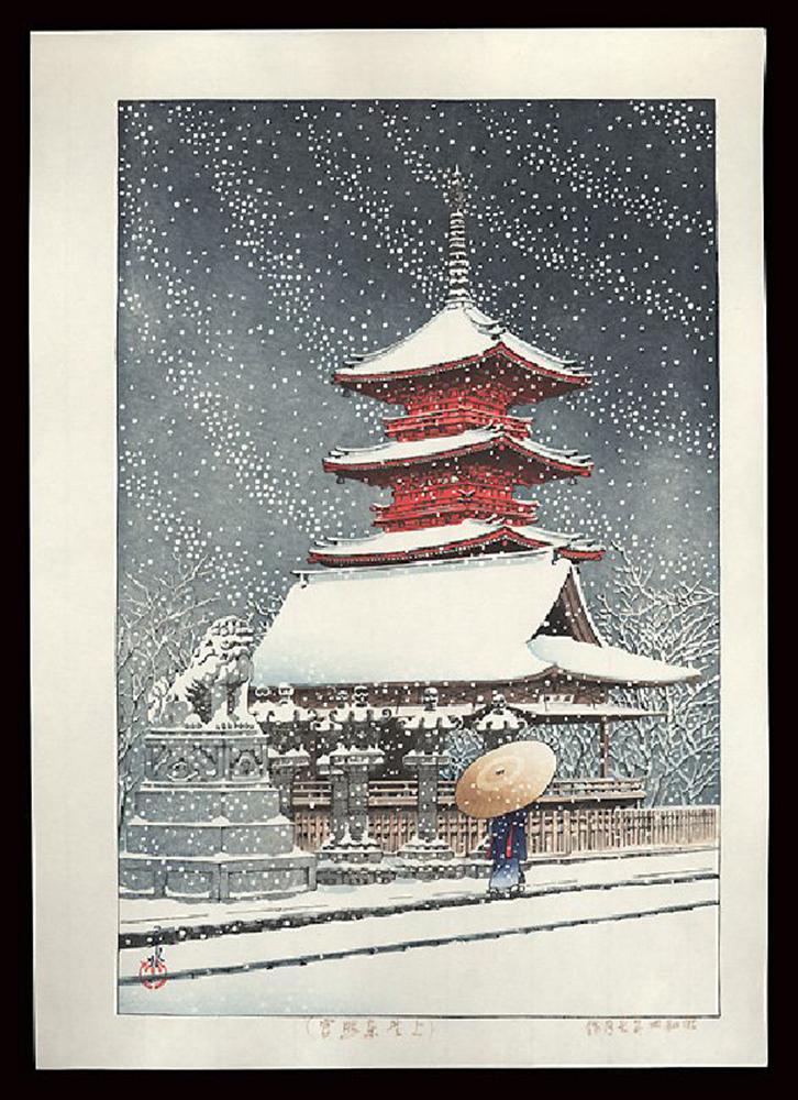 Snow at Ueno Toshogu Shrine