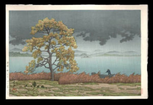 Rainy Lake in Matsue District, Hasui, Kawase, 1883-1957