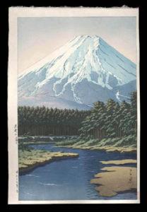 Mt. Fuji Seen from Oshino, Hasui, Kawase, 1883-1957