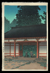 Starry Night at Tsubosaka Temple. Nara, Hasui, Kawase, 1883-1957