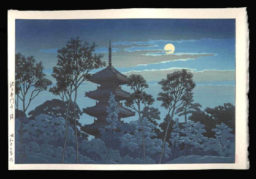 Night at Hommonji Temple, Ikegami