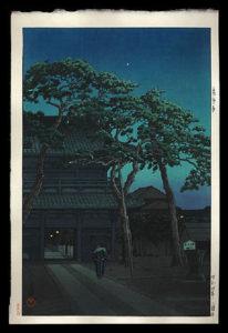 Night Scene at Sengakuji, Hasui, Kawase, 1883-1957