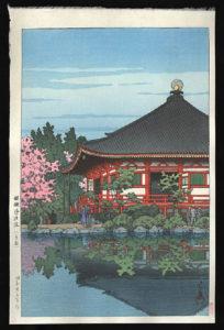 Daigo Denpo Temple, Kyoto, Hasui, Kawase, 1883-1957