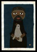 Mountain Man with White Bird