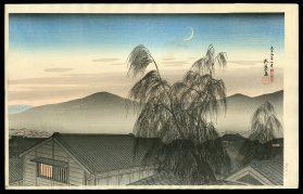 Evening Moon in Kobe