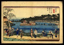 Spring View of Benzai-ten Shrine at the Shinobazu Pond in Edo