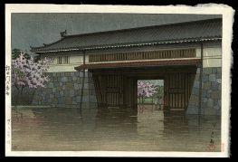 Spring Rain at Sakurada Gate.  Tokyo