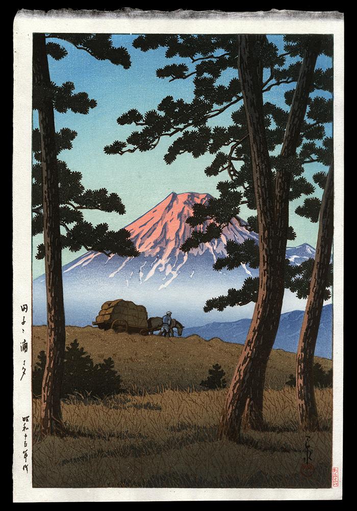 Mt. Fuji Seen from Tagonoura, Evening