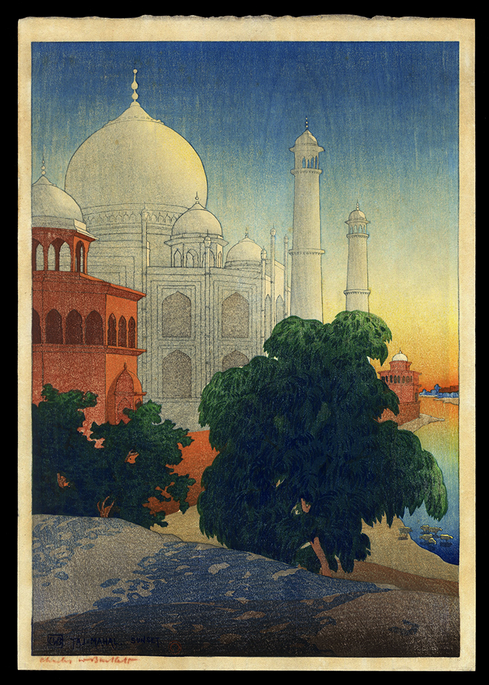 Taj Mahal, Sunset