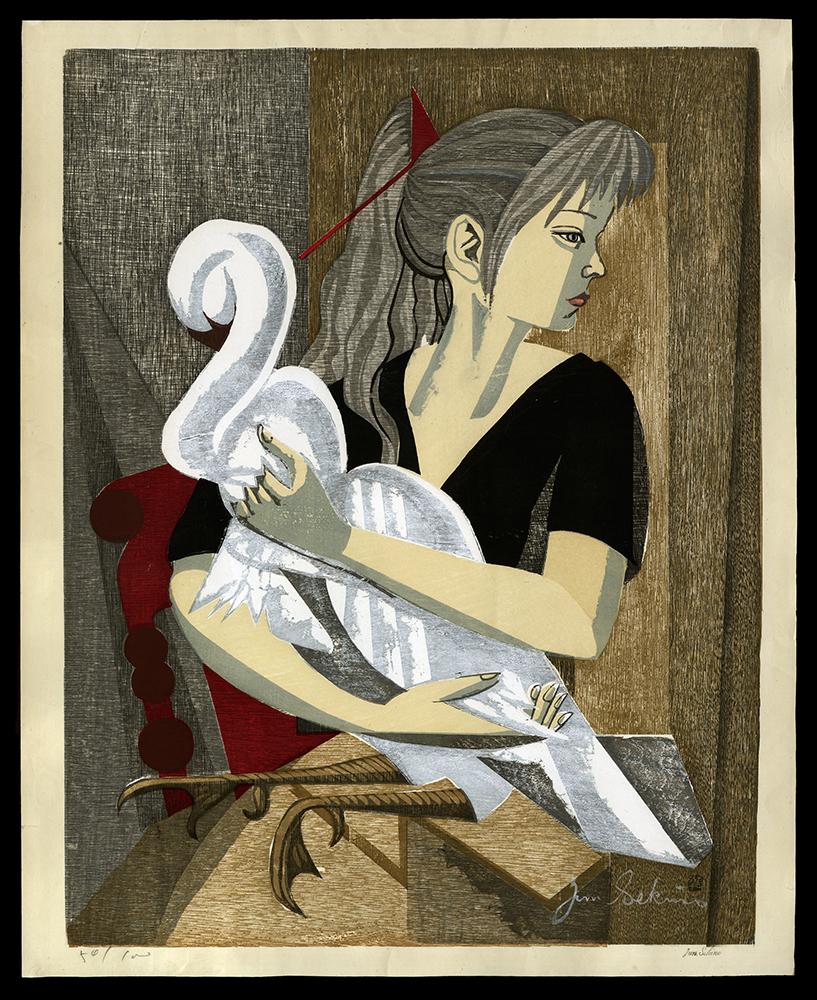 Swan and Girl