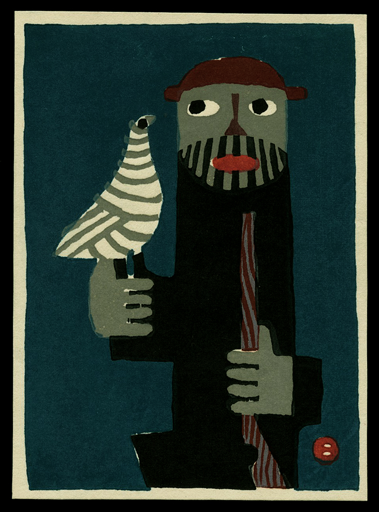 Mountain Man with Bird