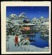 Santa Claus in Snow Garden