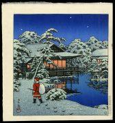 Santa Claus in Snow Garden