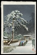 Honmonji Temple in Snow
