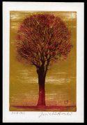 Evening Tree (red)
