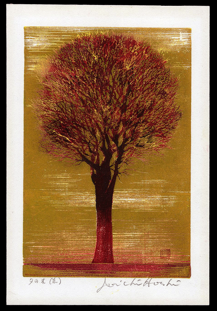Evening Tree (red)