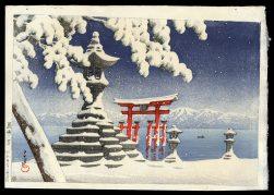 Snow at Itsukushima