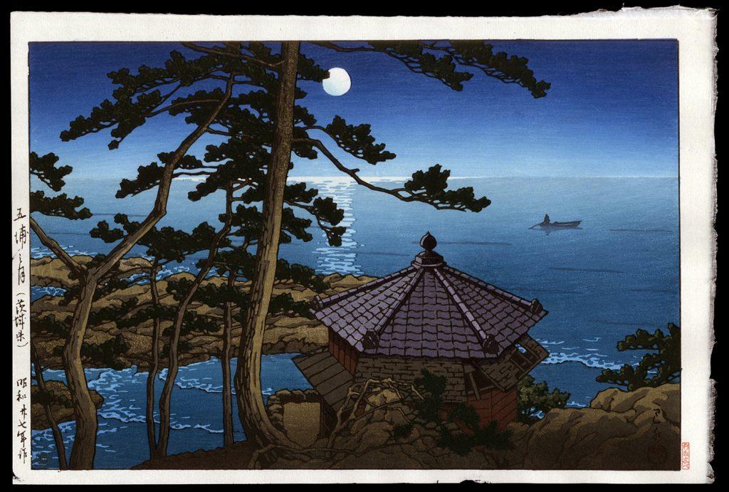Full Moon at Izu-ura, Ibaraki Prefecture