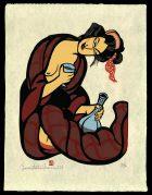 Woman with Bidoro