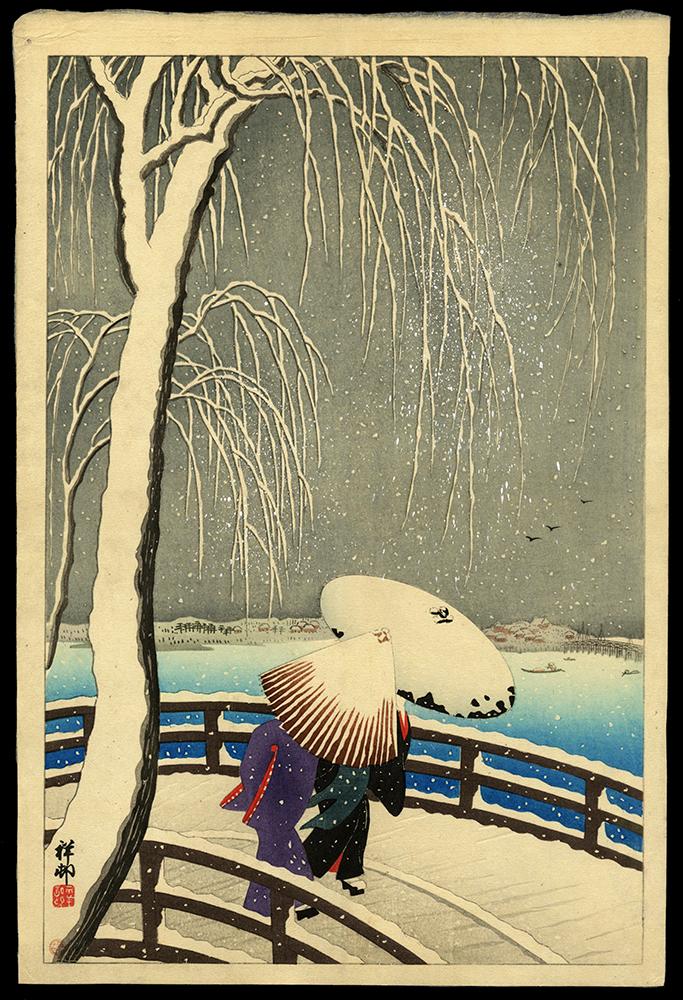 Snow on the Willow Bridge