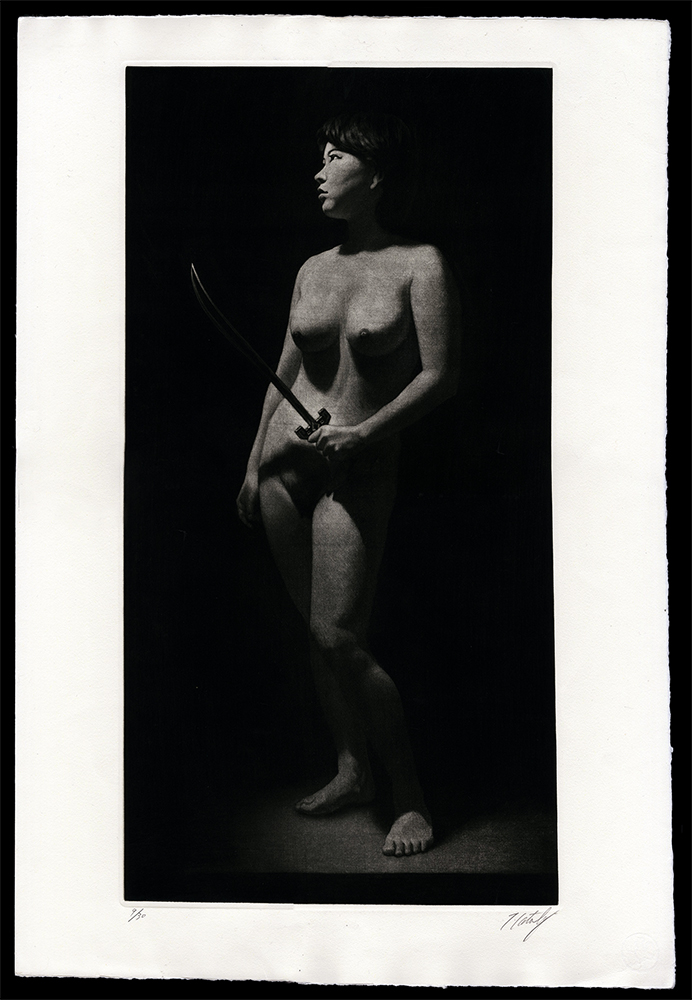 Nude with Samurai Sword