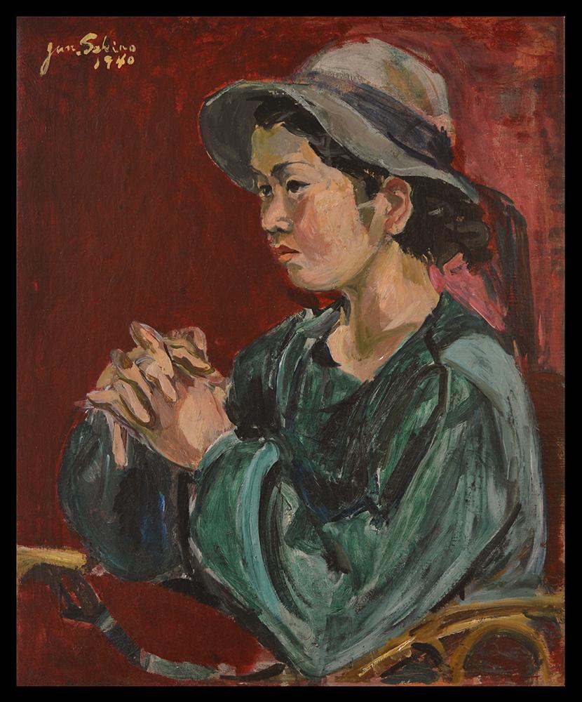 Katsuko in a Hat