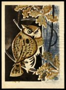 Owl and Oak Leaves