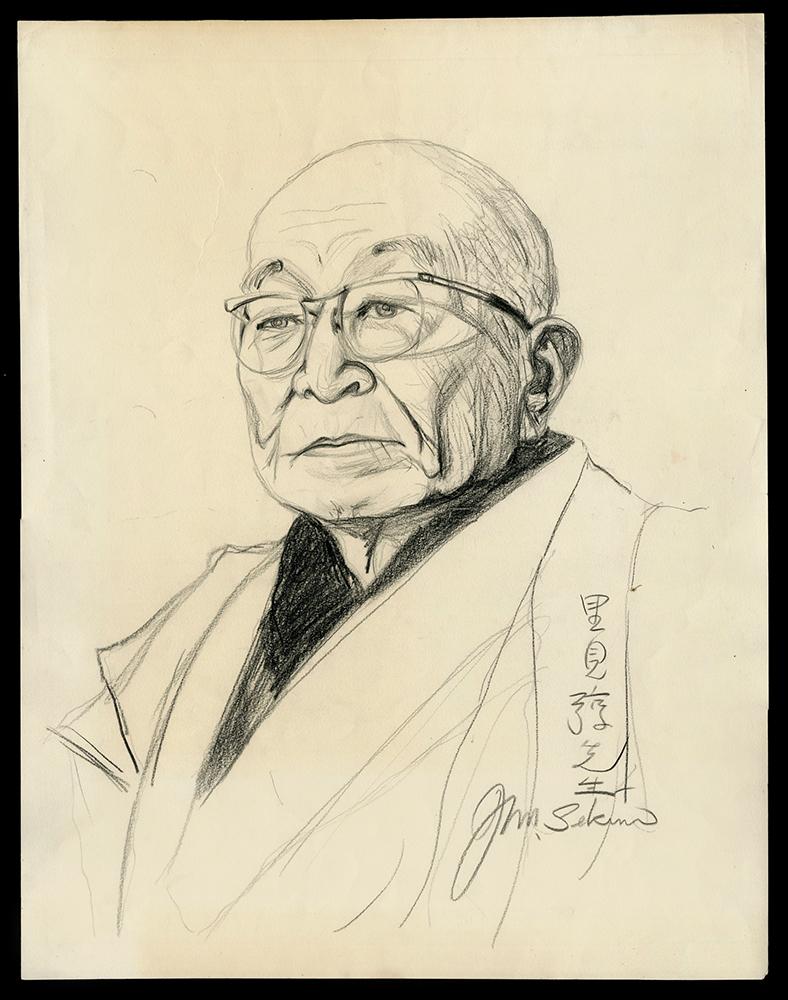 Ton Satomi at 93 Years Old (Print, Study and Sketch and Process Set)