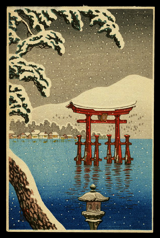 Miyajima Torii in the Snow