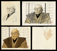 Ton Satomi at 93 Years Old (Print, Study and Sketch and Process Set)