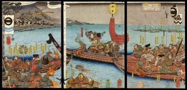 The Battle between Nitta Yoshisada and Taira no Takatoki