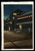 Evening at Soemoncho. Osaka