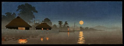 Moonrise over Waterfront Village