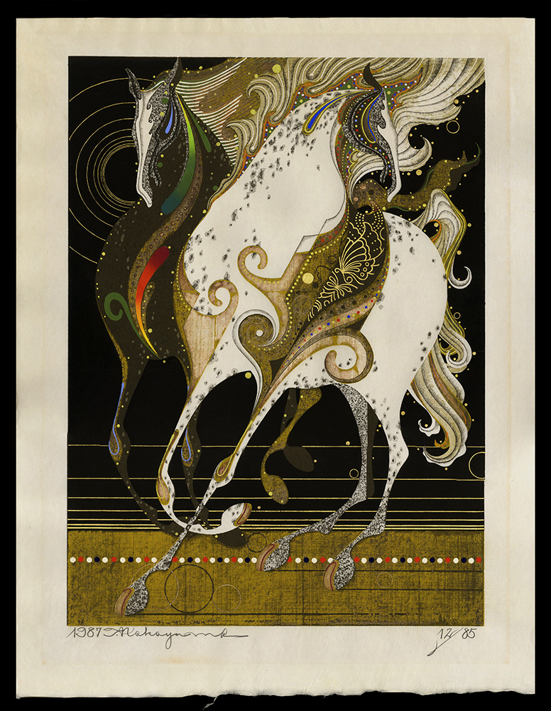 Two Horses Toward the Wind