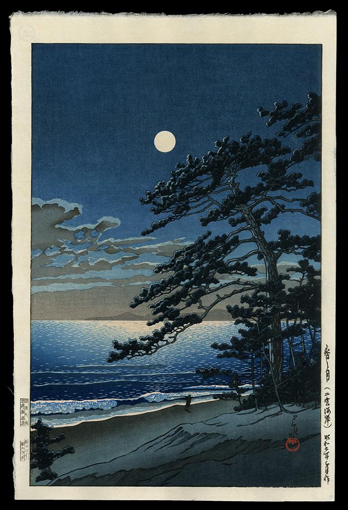 Spring Moon, Ninomiya Beach