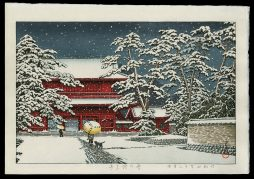 Zojoji Temple in Snow