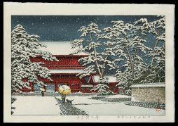Zojoji Temple in Snow