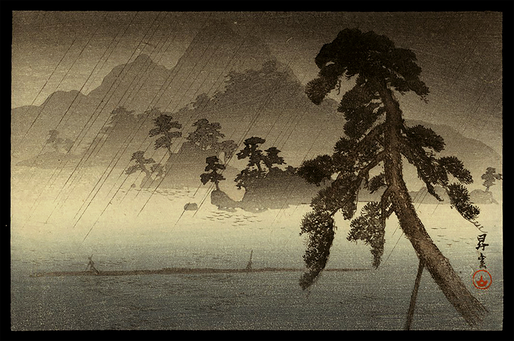 The Island of Thousand Pine Trees in Rain