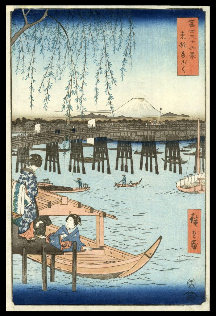 Ryogoku Bridge in Edo