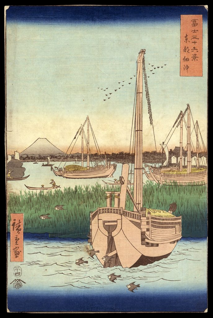 The Sea at Tsukuda in Edo