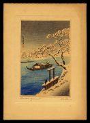 Sumida River in Snow