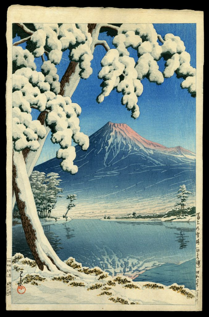 Clearing After a Snowfall on Mt. Fuji (Tagonoura Beach)