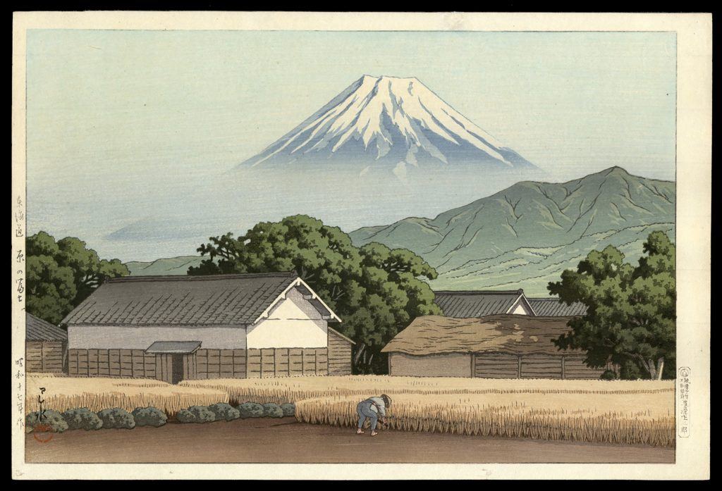 Mt. Fuji from Hara on the Tokaido